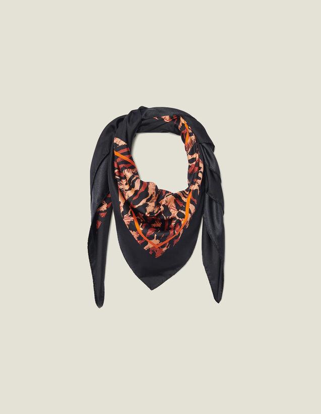 Foulard en soie imprimée : Toute la collection Hiver couleur Noir