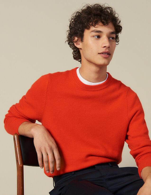Pull En Laine Et Cachemire : Pulls & Cardigans couleur Orange