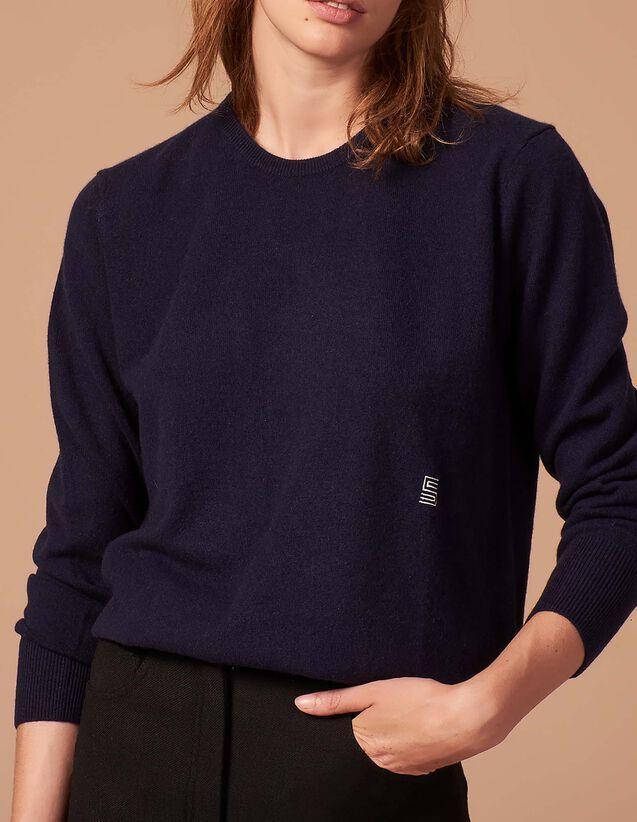 Pull en cachemire avec logo brodé   Pulls   Cardigans couleur Camel e168b871e170