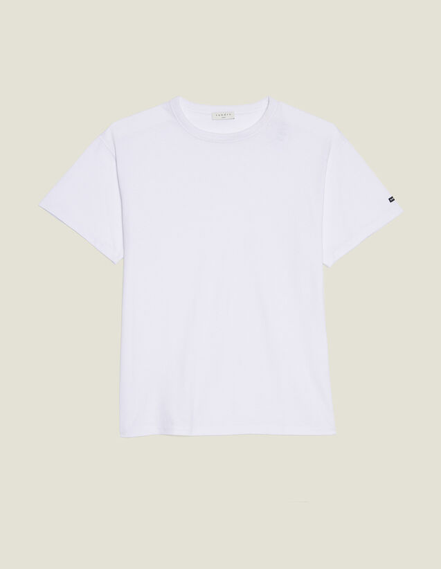 T-Shirt Over Size En Coton : T-shirts & Polos couleur blanc