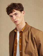 Blouson Teddy En Coton : Blousons & Vestes couleur Marine