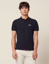 Polo En Piqué De Coton : T-shirts & Polos couleur Blanc