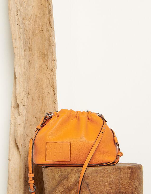 Sac seau en cuir grainé : Tous les Sacs couleur Orange