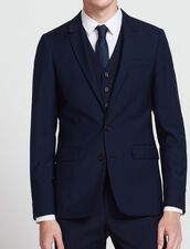 Veste de costume en laine et mohair : Toute la Sélection couleur Bleu