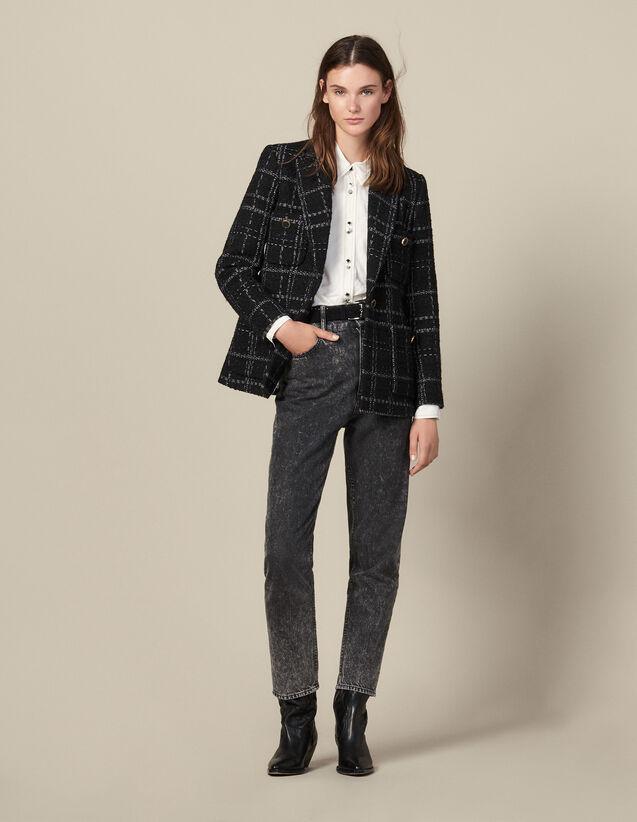 Veste De Tailleur En Tweed : Blousons & Vestes couleur Noir