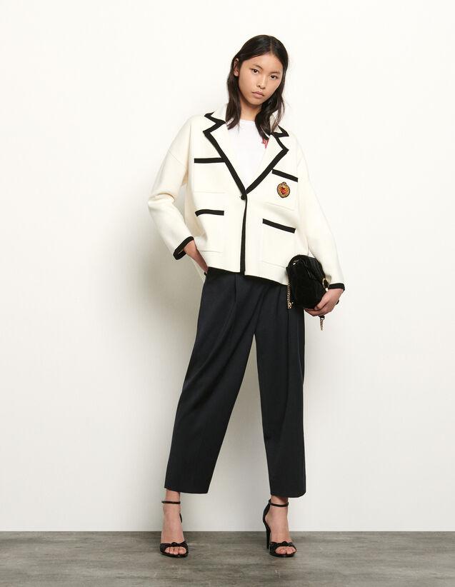 Cardigan façon veste de tailleur : Collection Été couleur Ecru