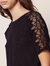 T-Shirt En Lin Avec Galons De Dentelle : LastChance-CH-FSelection-Pap&Access couleur Ecru