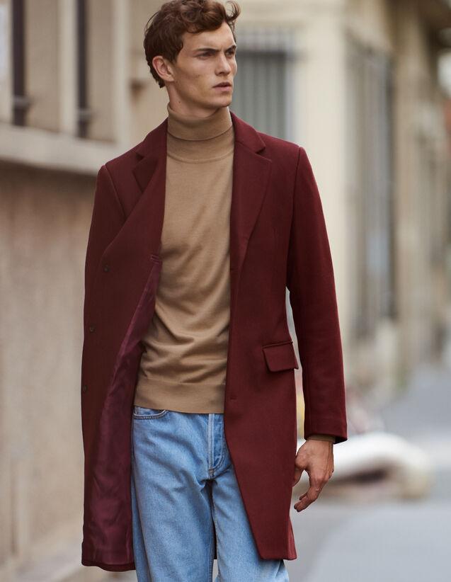 Manteau long fermeture trois boutons : Trenchs & Manteaux couleur Marine