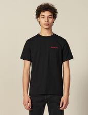T-Shirt À Message En Coton : Nouvelle Collection couleur Marine