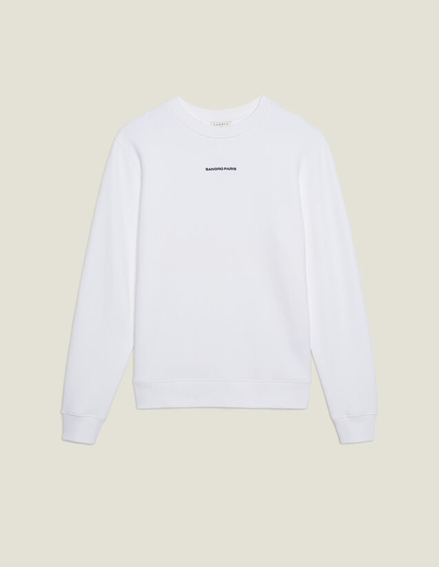 Sweat Avec Broderie Logo : Sweats couleur blanc