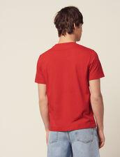 T-Shirt En Coton Avec Cœur Floqué : T-shirts & Polos couleur Blanc