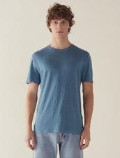 T-Shirt En Lin : T-shirts & Polos couleur Encre