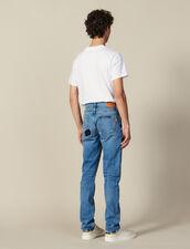 Jean Slim Destroy En Coton : Nouvelle Collection couleur Blue Vintage - Denim