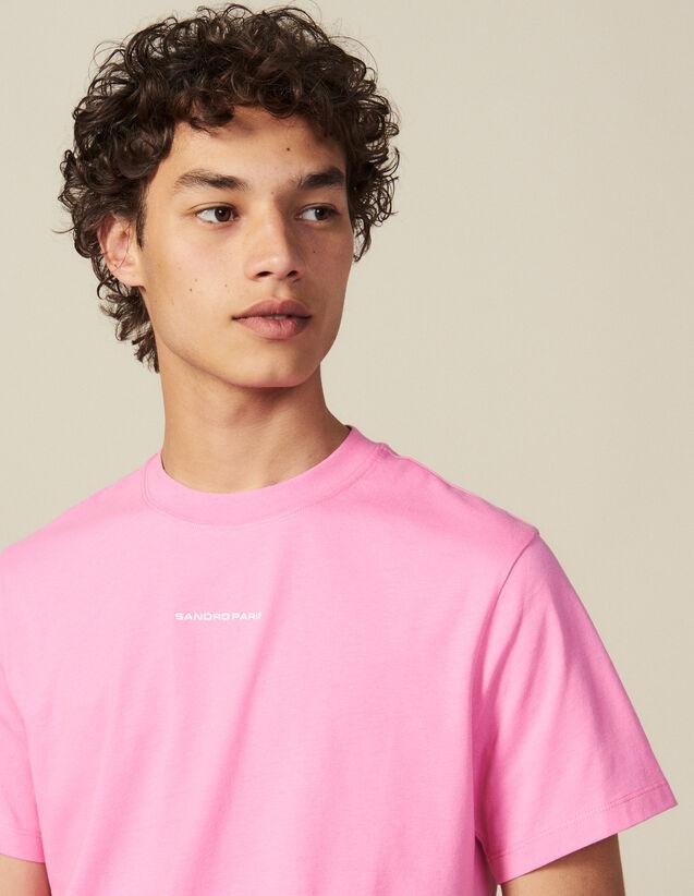 T-Shirt En Coton : Nouvelle Collection couleur Rose