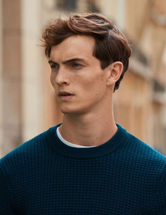 Pull à points fantaisie : Pulls & Cardigans couleur Vert foncé
