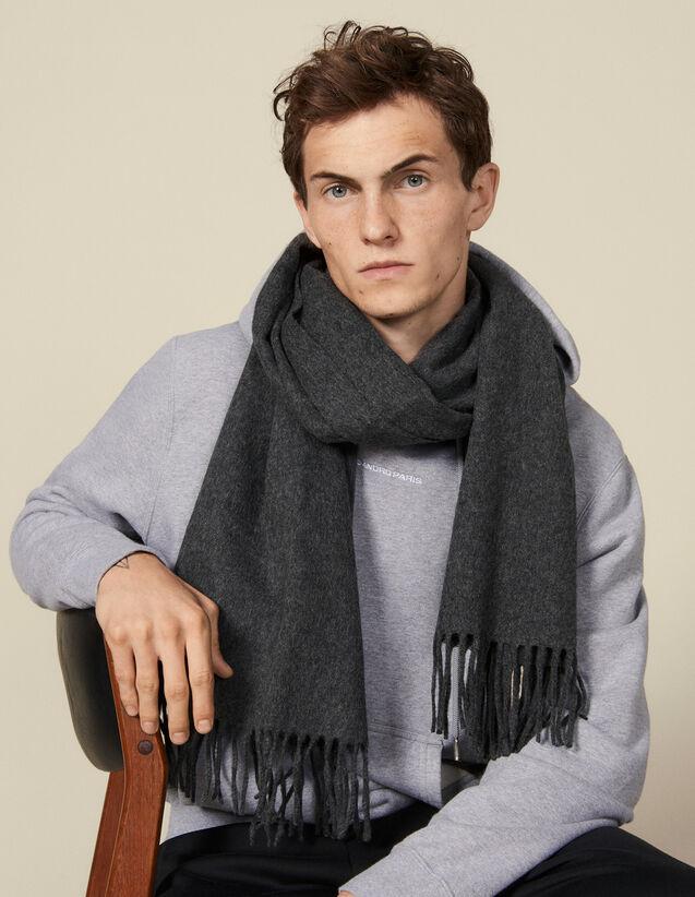 Echarpe en laine et cachemire : Foulards & Echarpes couleur Anthracite