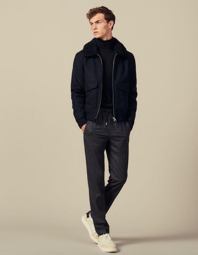 Pantalon Avec Un Élastique À La Taille : Pantalons & Shorts couleur Gris Chiné