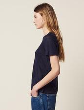 T-Shirt En Lin À Manches Courtes : Sélection Last Chance couleur Terracotta