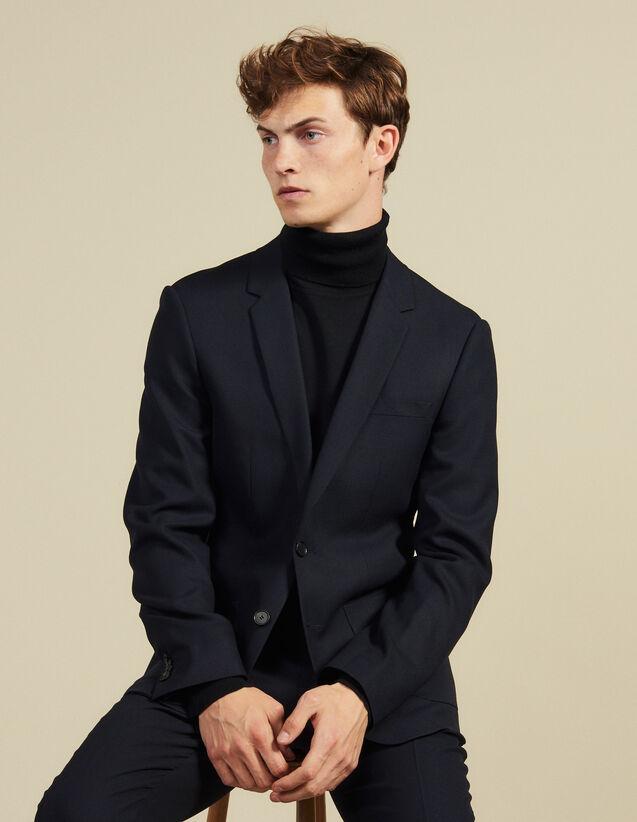 Veste de costume en laine slim fit : Costumes & Smokings couleur Marine