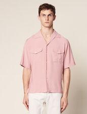 Chemise Fluide Manches Courtes : Chemises couleur Rose pâle