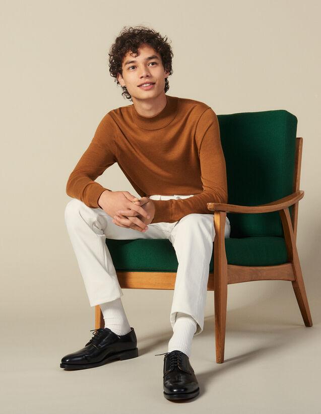Pull à col cheminée : Pulls & Cardigans couleur Vert foncé