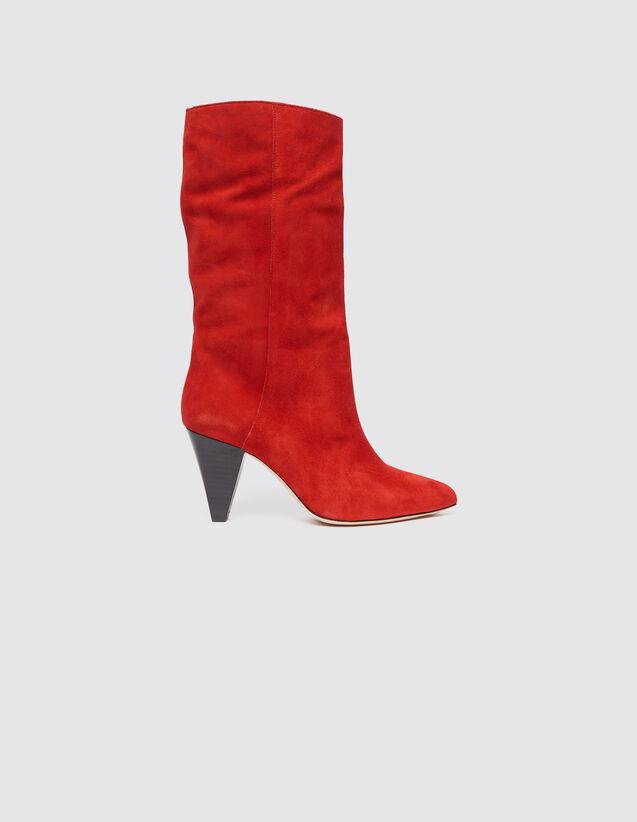 3419696363ce8 Bottines à talons en cuir   Toutes les Chaussures couleur Rouge
