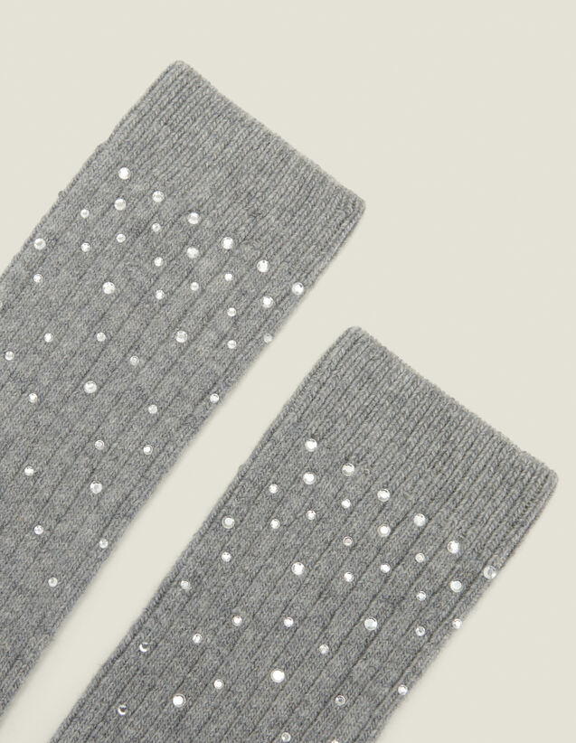 Chaussettes ornées strass : Toute la collection Hiver couleur Camel