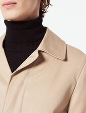 Rain-Coat En Coton : Trenchs & Manteaux couleur Beige
