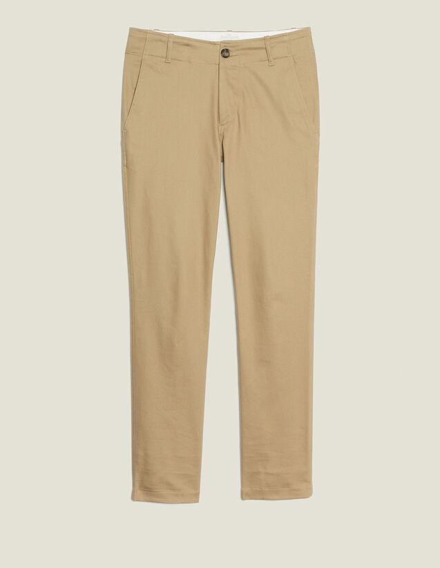 Pantalon Chino Droit : Pantalons & Shorts couleur Beige