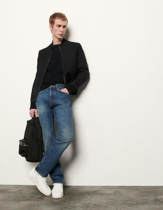 Jean délavé : Jeans couleur Blue Vintage - Denim