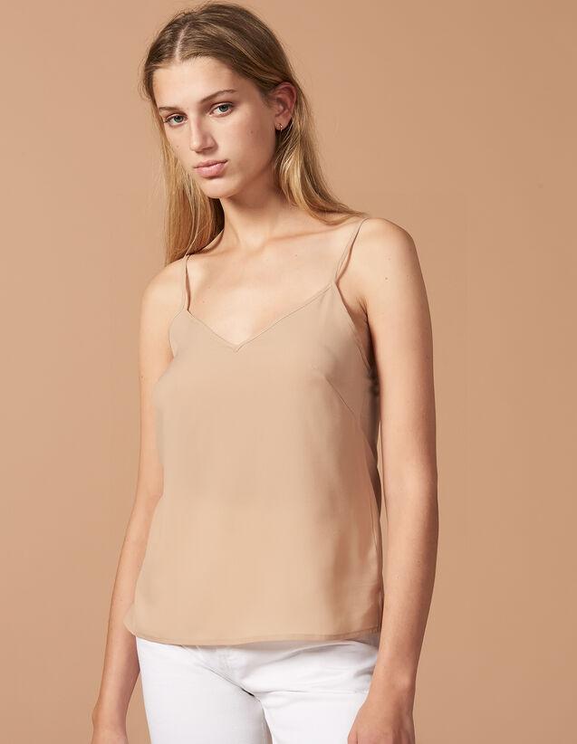 Top À Fines Bretelles : Sous-robes & Tops couleur Ecru