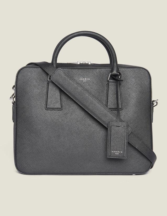 Briefcase En Cuir Saffiano : Collection Été couleur Noir