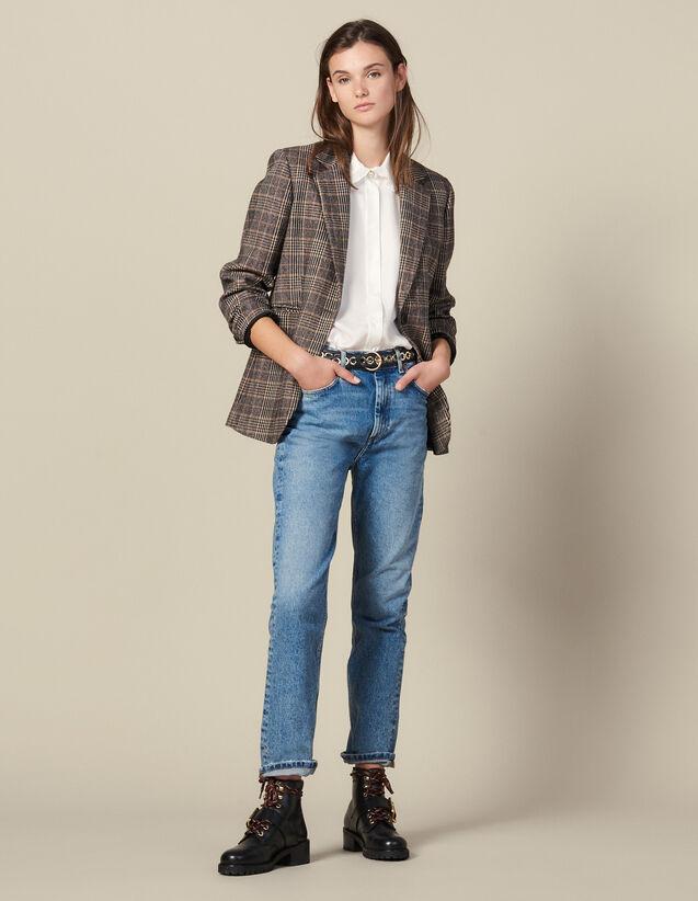 Jean Droit Délavé : Jeans couleur Blue Vintage - Denim