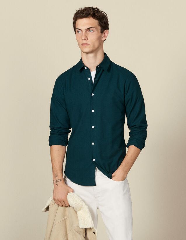Chemise en flanelle : Chemises couleur Ecru