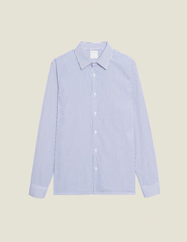 Chemise formelle en coton : Chemises couleur BLANC/BLEU