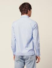 Chemise Formelle En Coton Rayé : Chemises couleur Bleu Ciel