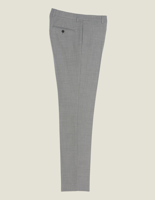 Pantalon De Costume En Laine : Costumes & Smokings couleur Gris clair