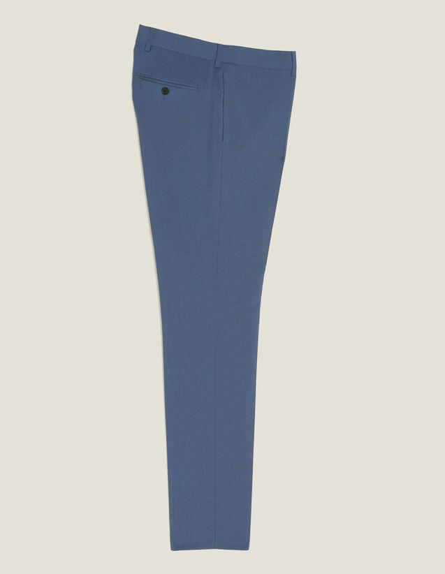Pantalon De Costume En Laine : Costumes & Smokings couleur Gris bleuté