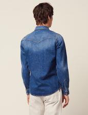 Chemise En Denim Délavé : Chemises couleur Blue Vintage - Denim