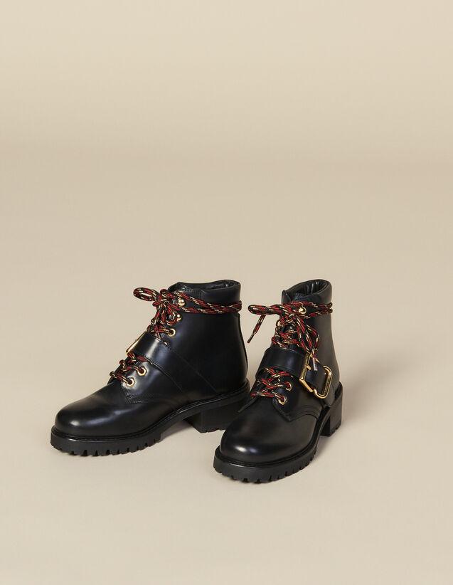 Rangers en cuir lisse : Toutes les Chaussures couleur Noir