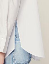 Chemise En Popeline À Hauts Poignets : Tops & Chemises couleur Blanc