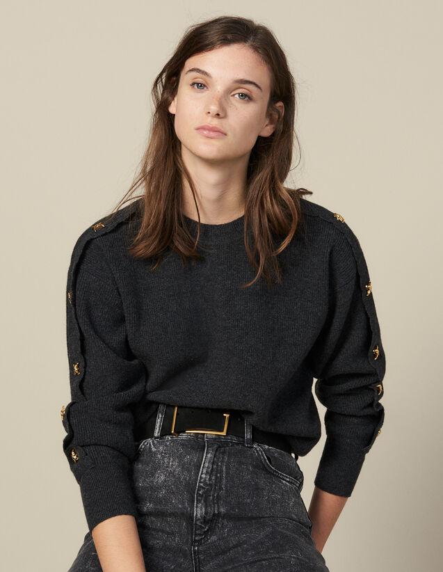 Pull À Boutons Bijoux : Pulls & Cardigans couleur Anthracite