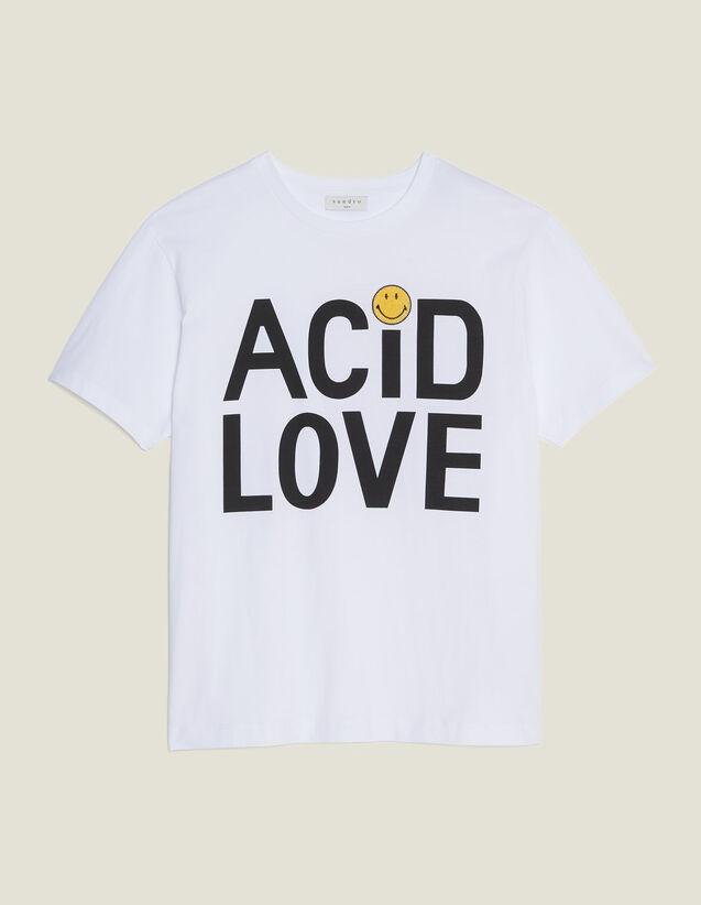 T-Shirt À Message En Coton : T-shirts couleur blanc