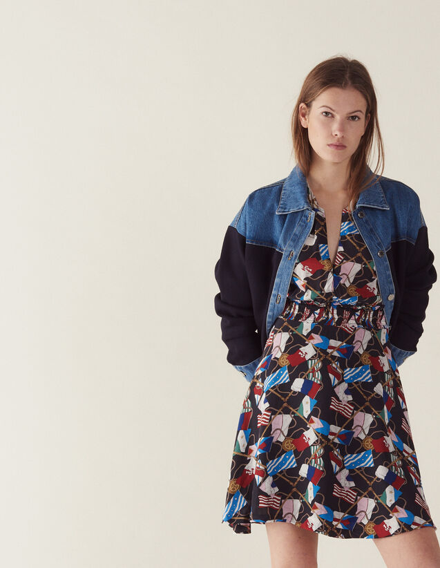 Robe Fluide Imprimé All Over : Sélection Last Chance couleur Noir