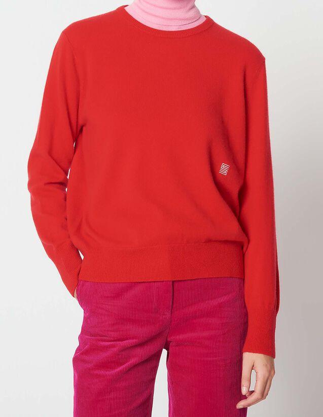 fb9550b506aa Pull en cachemire avec logo brodé   Pulls   Cardigans couleur Camel