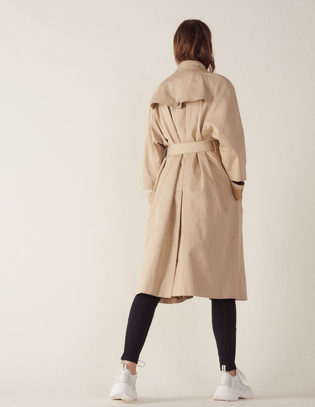Manteau Long Esprit Trench Coat : Manteaux couleur Beige