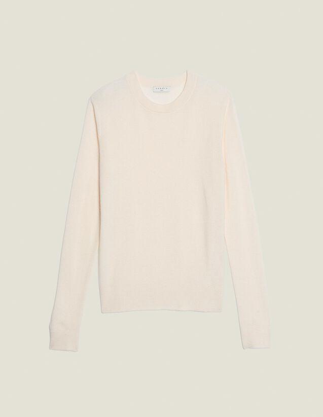 Pull Fin En Point Fantaisie : Pulls & Cardigans couleur Blanc cassé