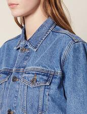 Veste En Jean Fit Masculin : Blousons & Vestes couleur Blue Vintage - Denim