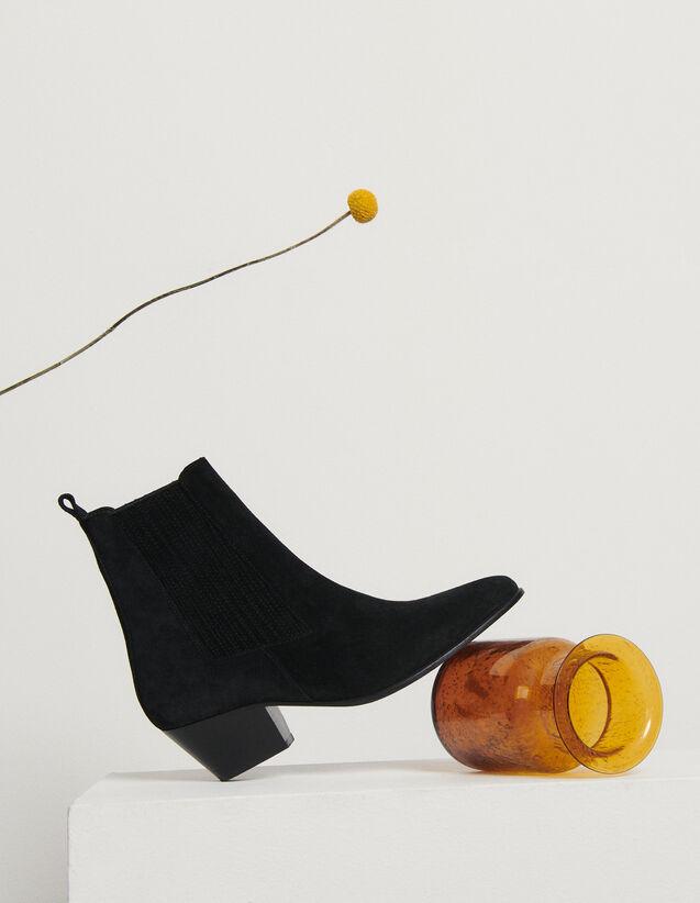 Boots en cuir à élastiques : Toutes les Chaussures couleur Kaki