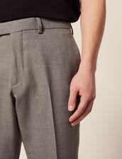Pantalon De Costume En Laine : -40% couleur Gris Clair